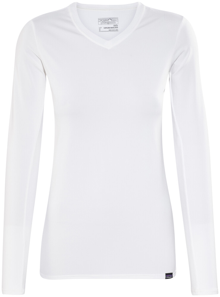 Patagonia Capilene Daily - T-shirt manches longues Femme - blanc